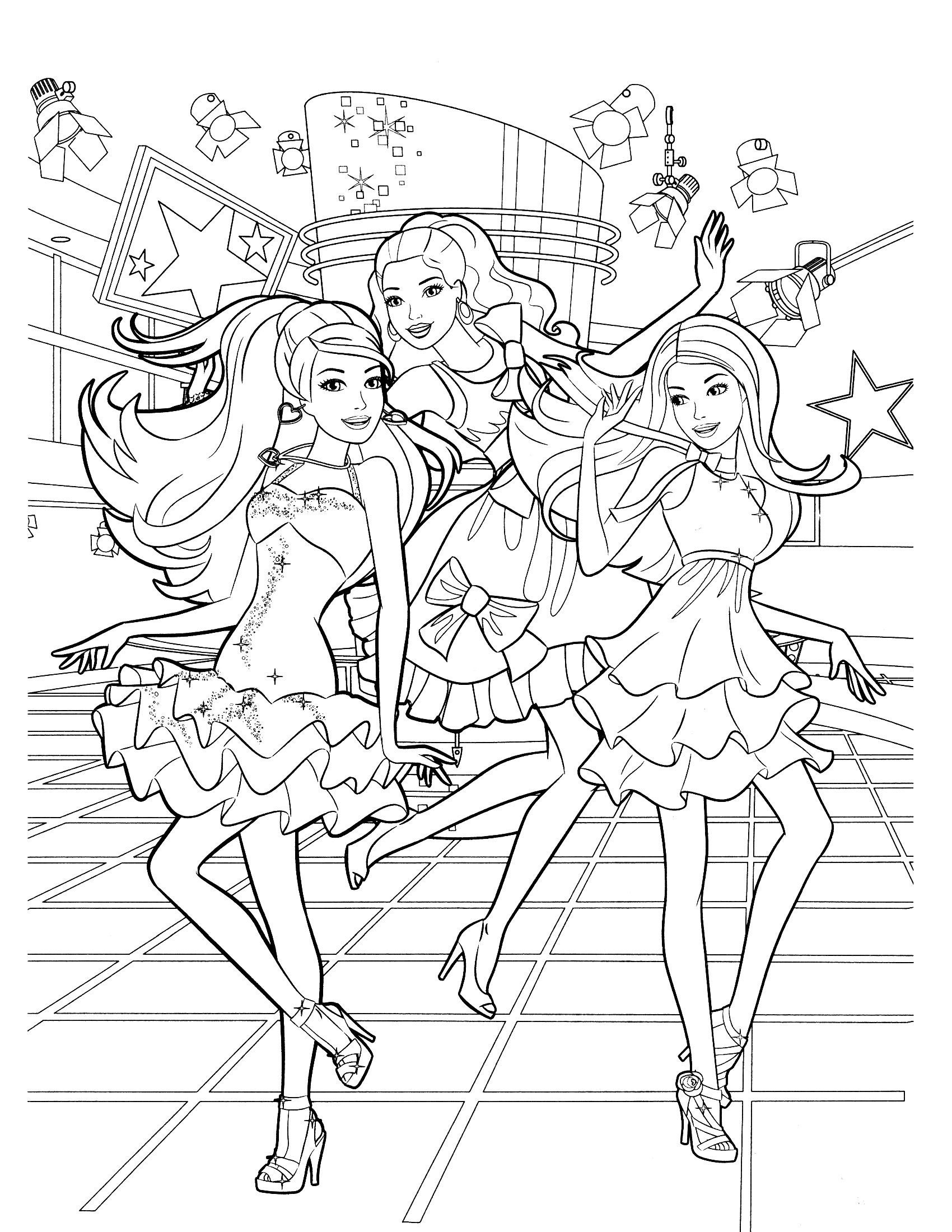 coloring pages of barbie barbie birthday coloring pages at getcoloringscom free barbie of pages coloring