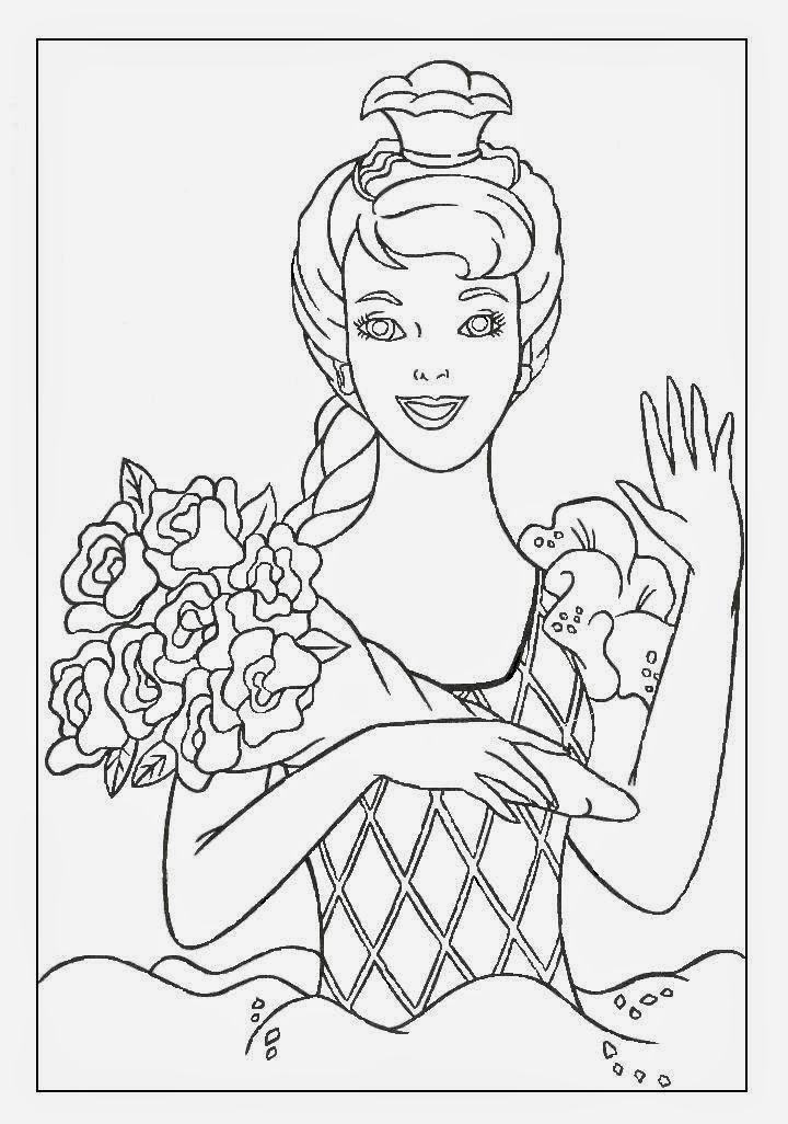 coloring pages of barbie coloring pages barbie free printable coloring pages of pages coloring barbie