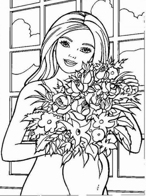 coloring pages of barbie kids page barbie coloring pages for childrens of coloring pages barbie