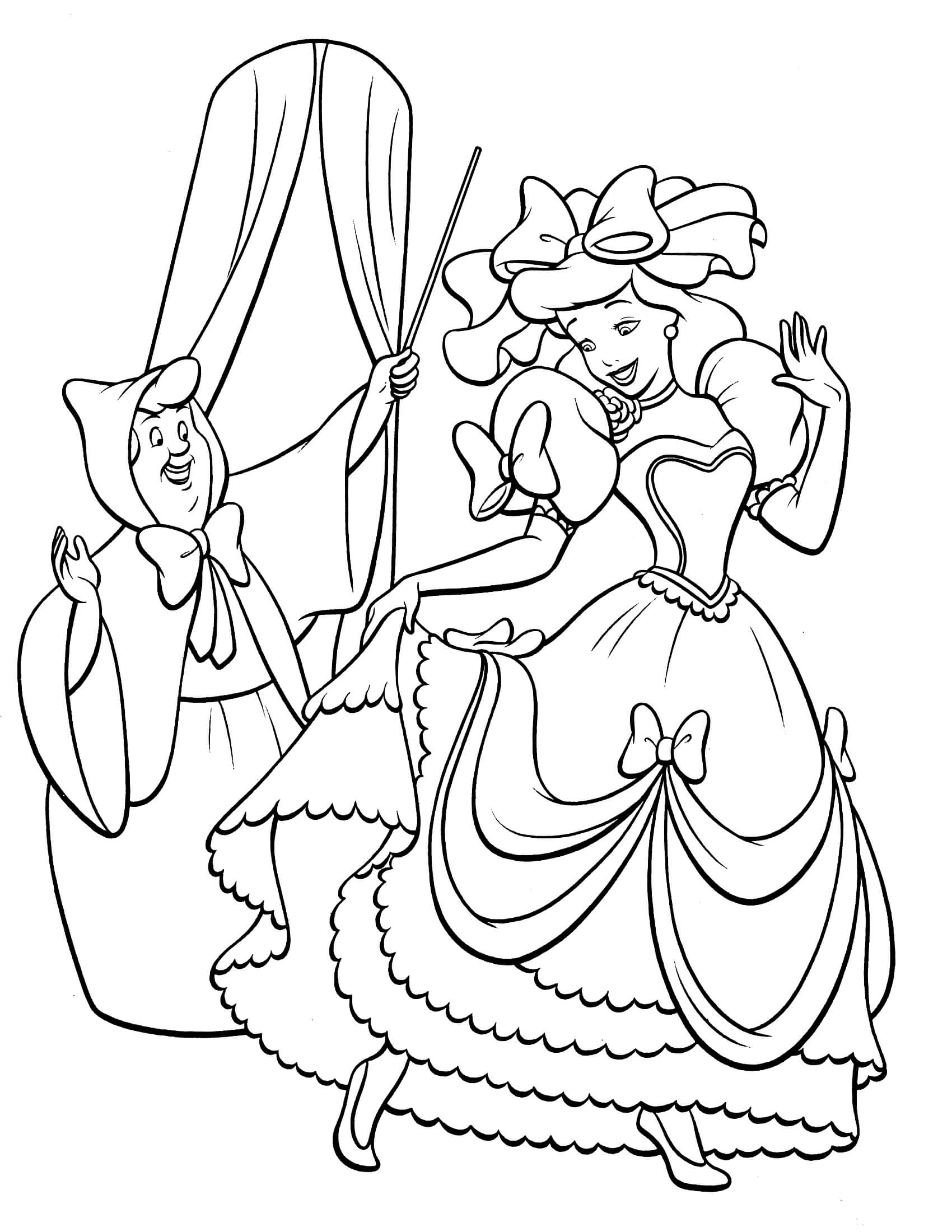coloring pages of cinderella 30 free printable cinderella coloring pages coloring cinderella pages of