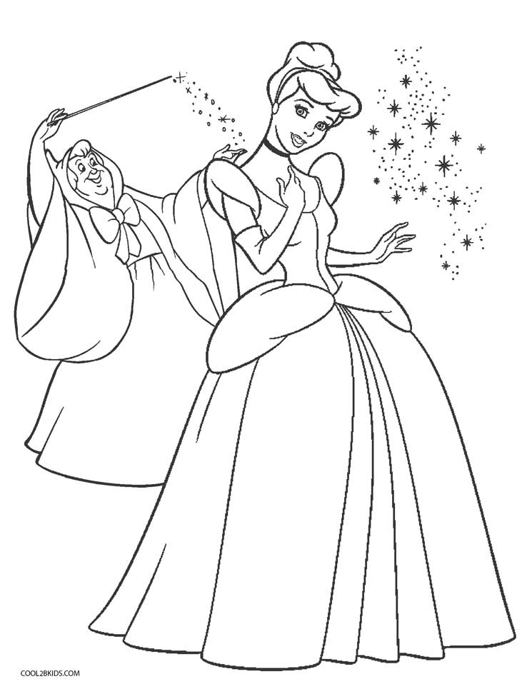 coloring pages of cinderella cinderella coloring pages to download and print for free pages cinderella of coloring