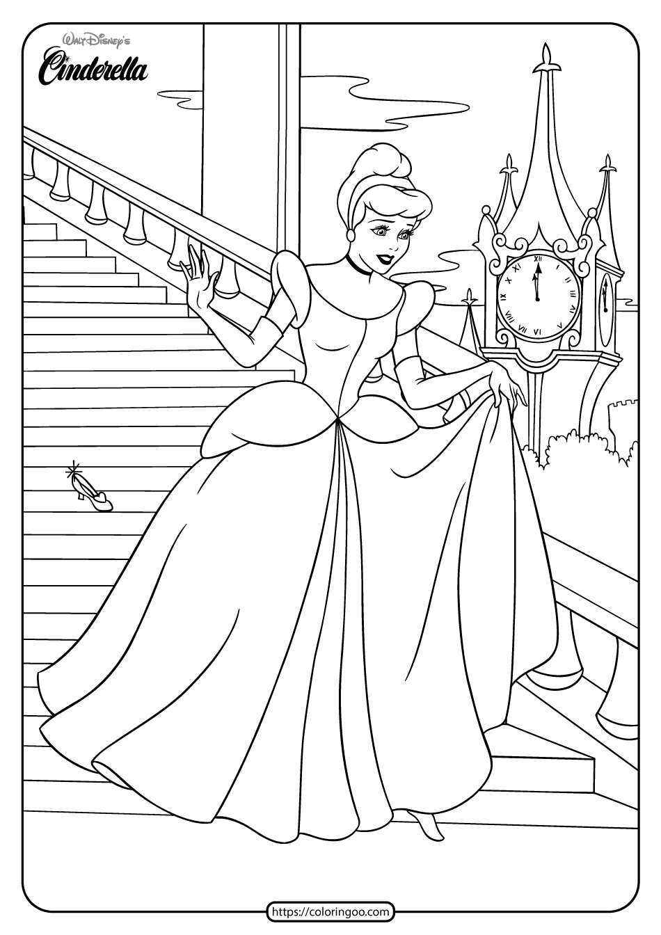 coloring pages of cinderella free printable cinderella coloring pages for kids coloring cinderella of pages