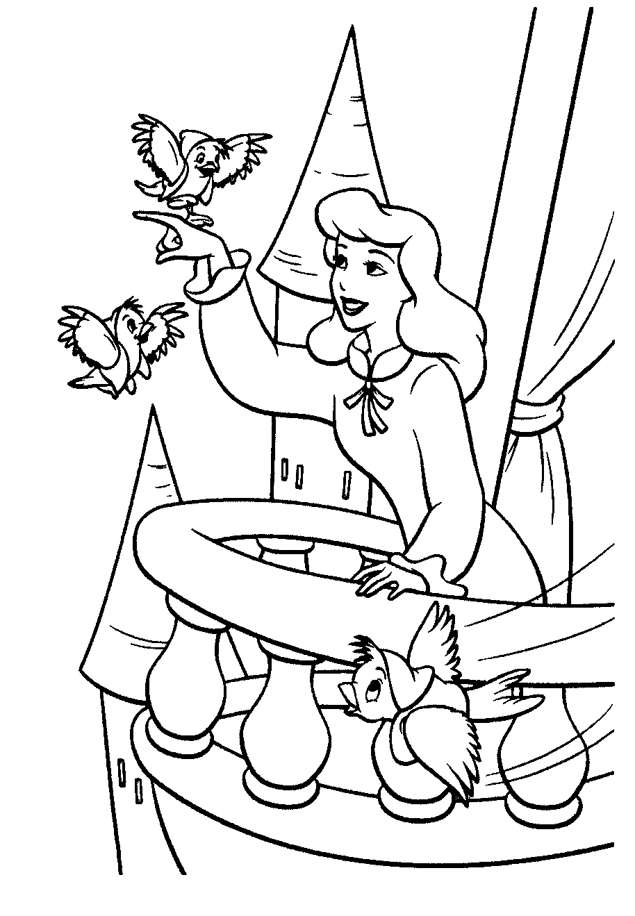 coloring pages of cinderella free printable cinderella coloring pages for kids of coloring cinderella pages
