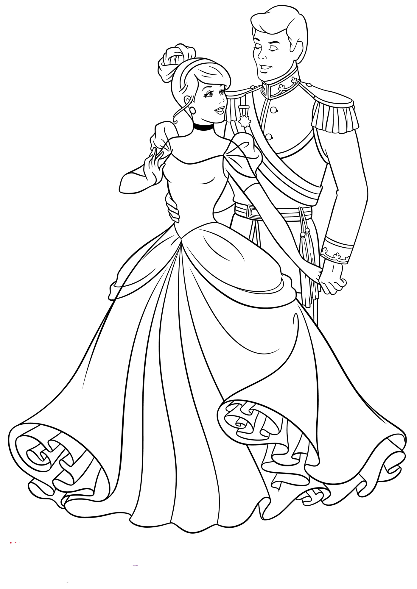 coloring pages of cinderella print download impressive cinderella coloring pages coloring pages of cinderella