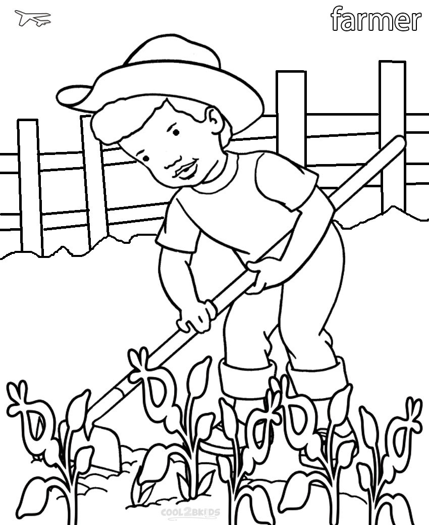 Coloring pages of community helpers
