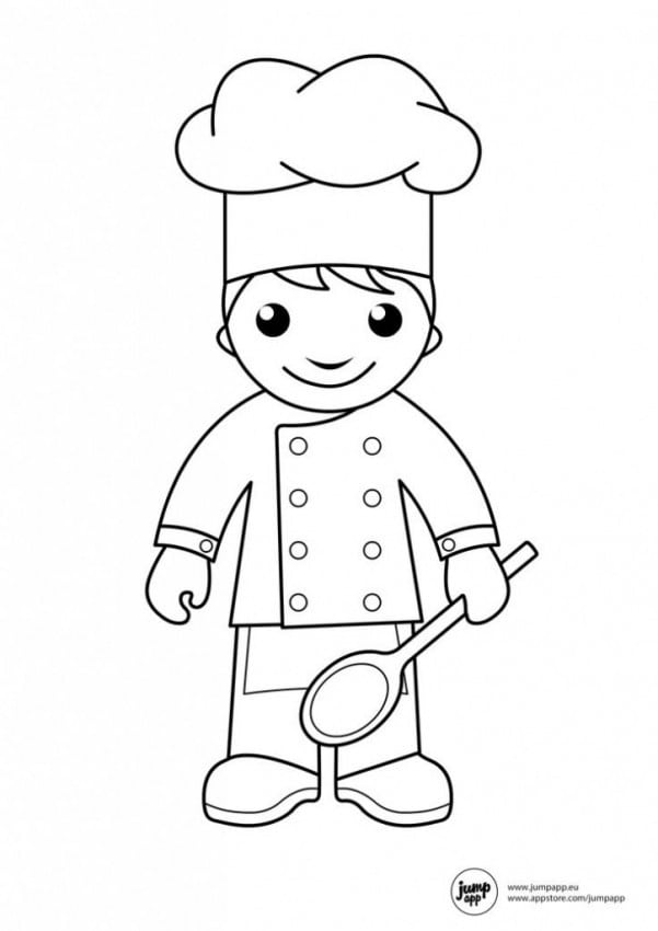 coloring pages of community helpers master chef in community helpers coloring page netart helpers coloring pages of community