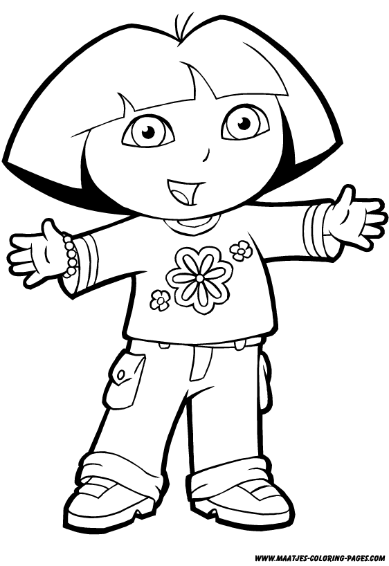 coloring pages of dora awesome dora coloring sheets coloring pages for kids on pages dora of coloring