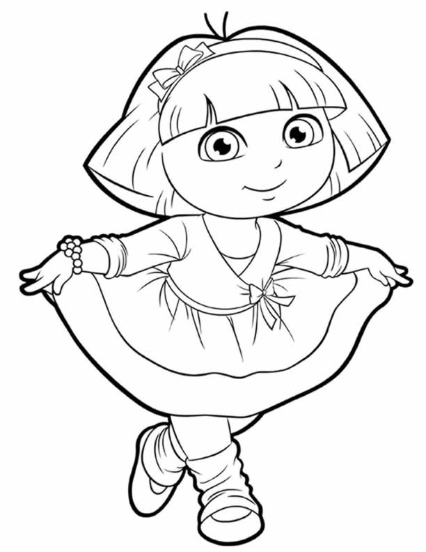 coloring pages of dora dora and friends coloring pages at getcoloringscom free dora coloring pages of