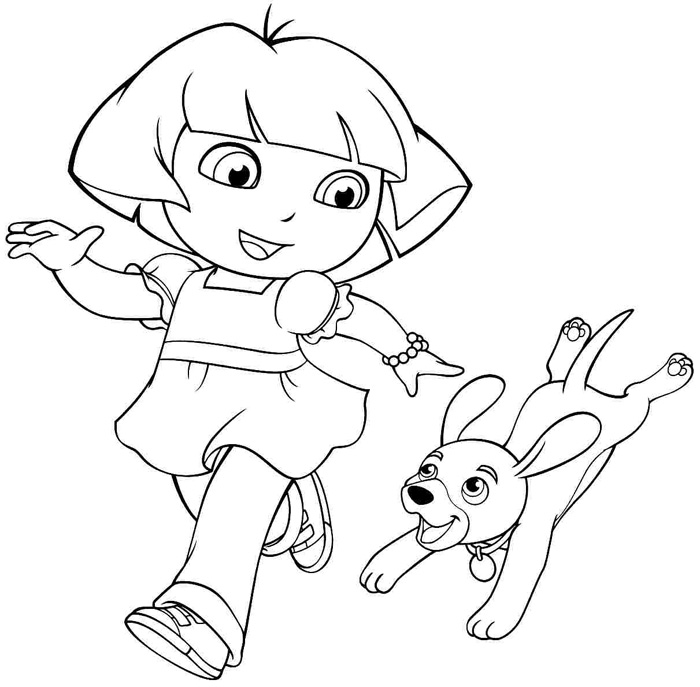 coloring pages of dora dora coloring online free kerra pages coloring dora of