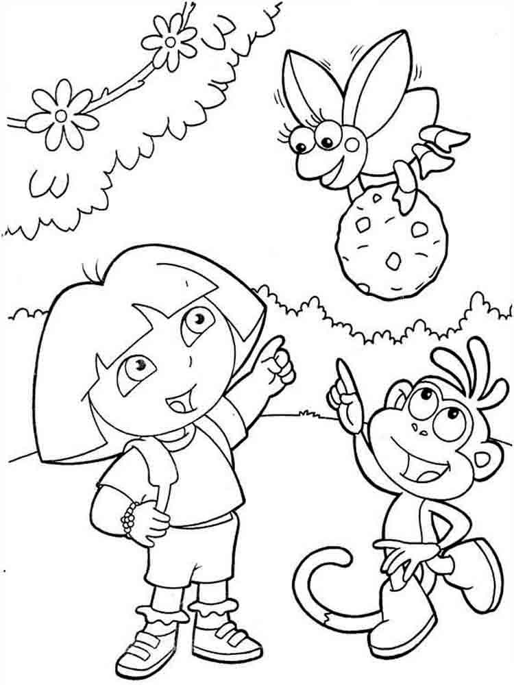 coloring pages of dora dora the explorer coloring page cartoon coloring pages coloring dora pages of