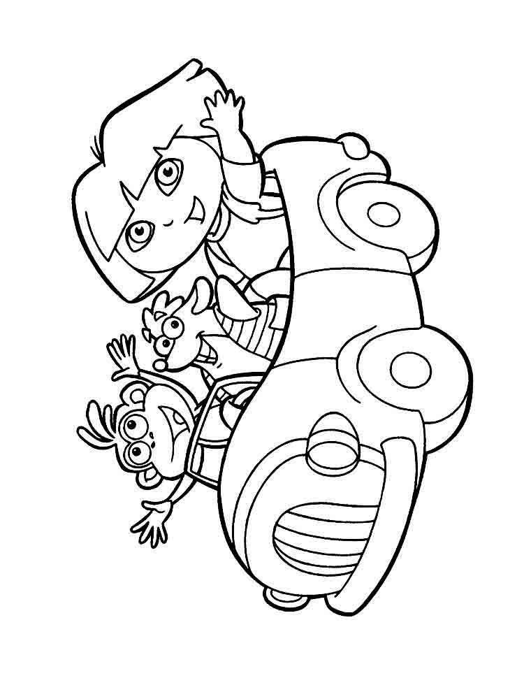 coloring pages of dora dora the explorer coloring pages download and print dora coloring pages dora of