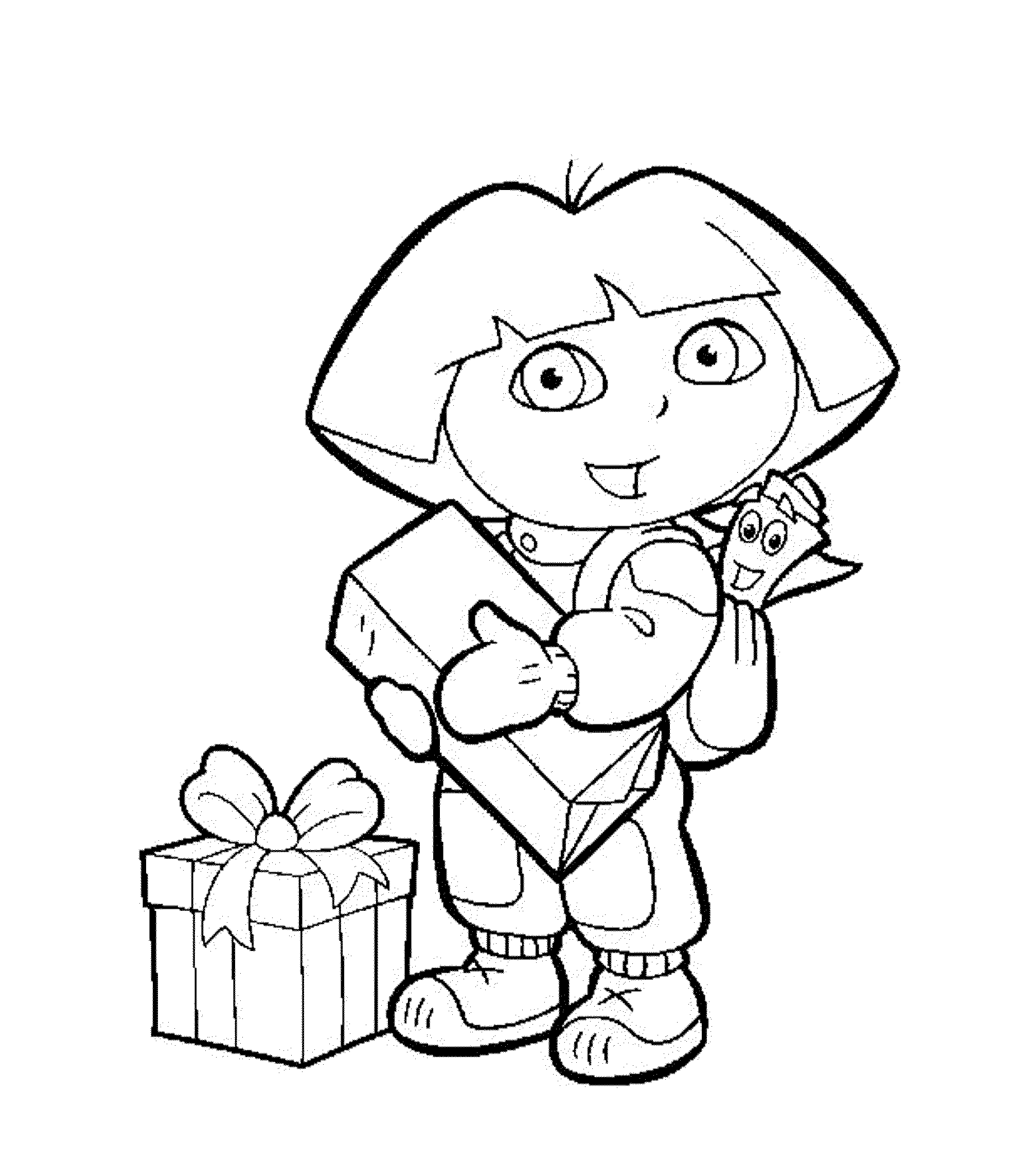 coloring pages of dora dora the explorer coloring pages download and print dora of coloring dora pages