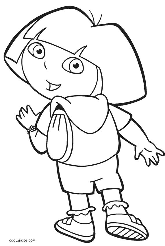coloring pages of dora dora the explorer free coloring pages dora coloring pages of