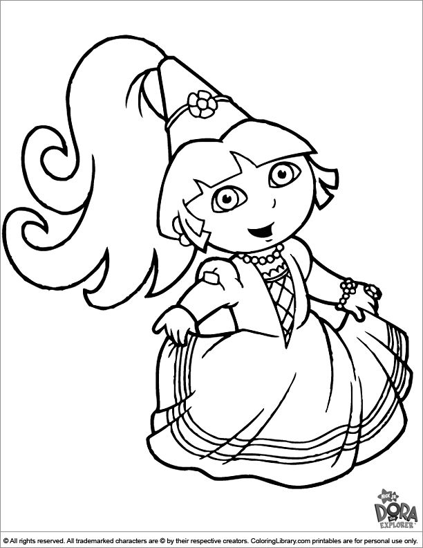 coloring pages of dora kids n funcom 84 coloring pages of dora the explorer of pages dora coloring
