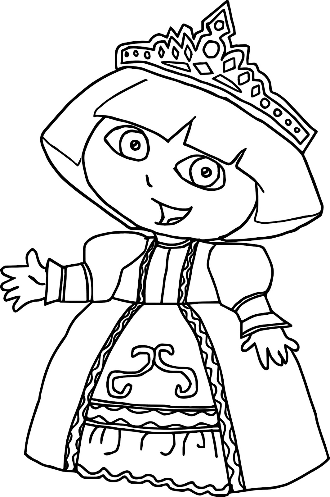 coloring pages of dora princess dora coloring pages at getcoloringscom free dora coloring pages of