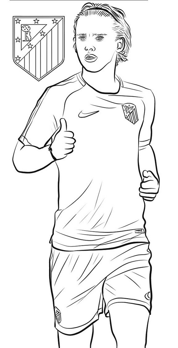 coloring pages of football players antoine griezmann soccer football player coloring page of coloring pages players football