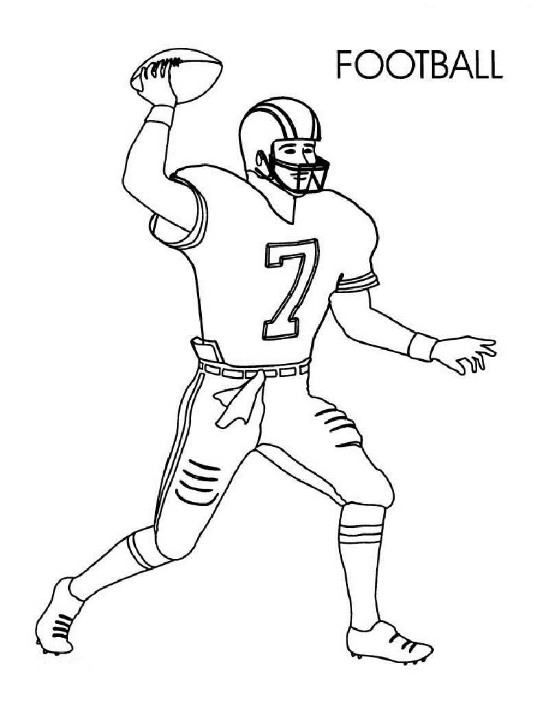 coloring pages of football players football coloring pages for preschoolers activity shelter pages of football coloring players