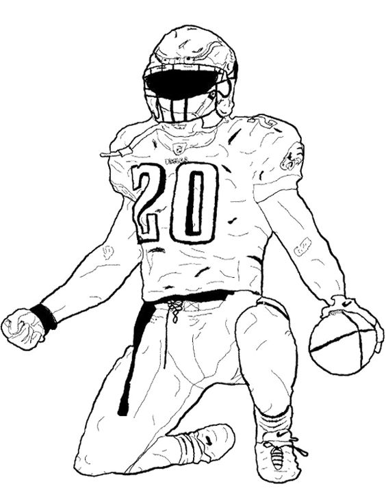coloring pages of football players football player bending the foot coloring page kids coloring of football pages players