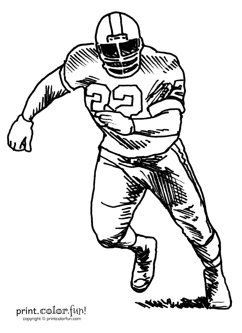 coloring pages of football players football player coloring page print color fun of football pages players coloring