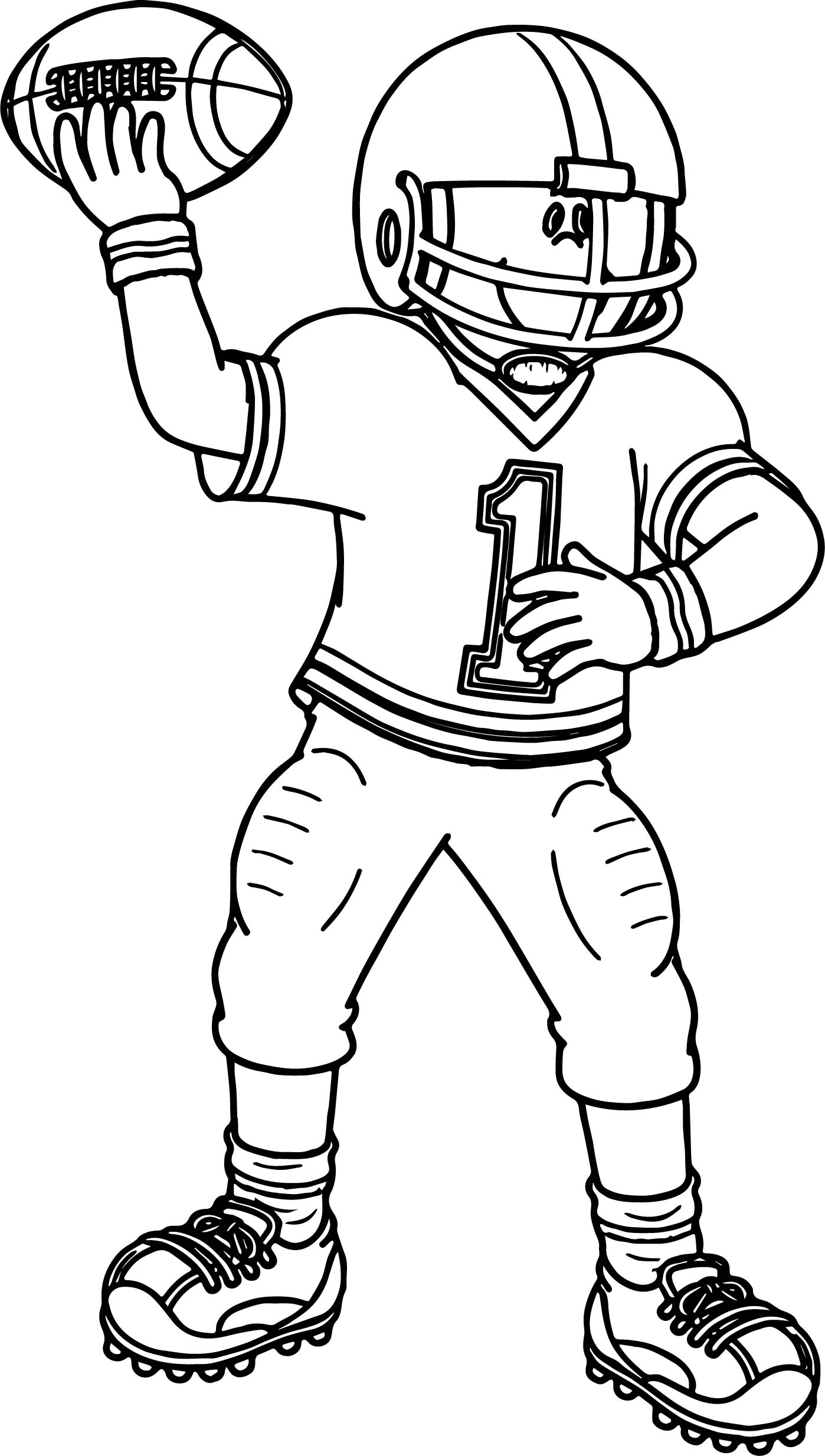 coloring pages of football players football player sport football playing football coloring pages of players coloring football