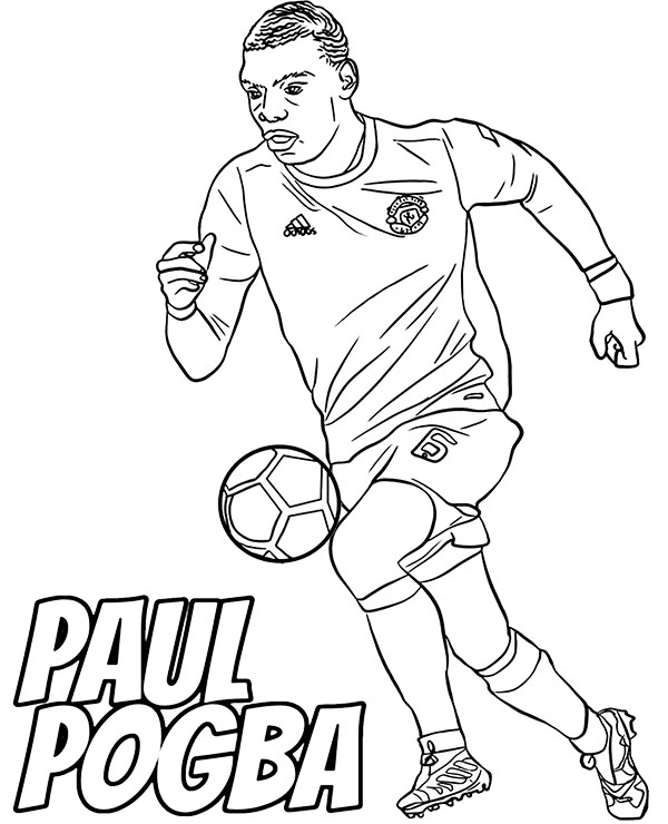 coloring pages of football players paul pogba coloring page with football players for free coloring players football of pages