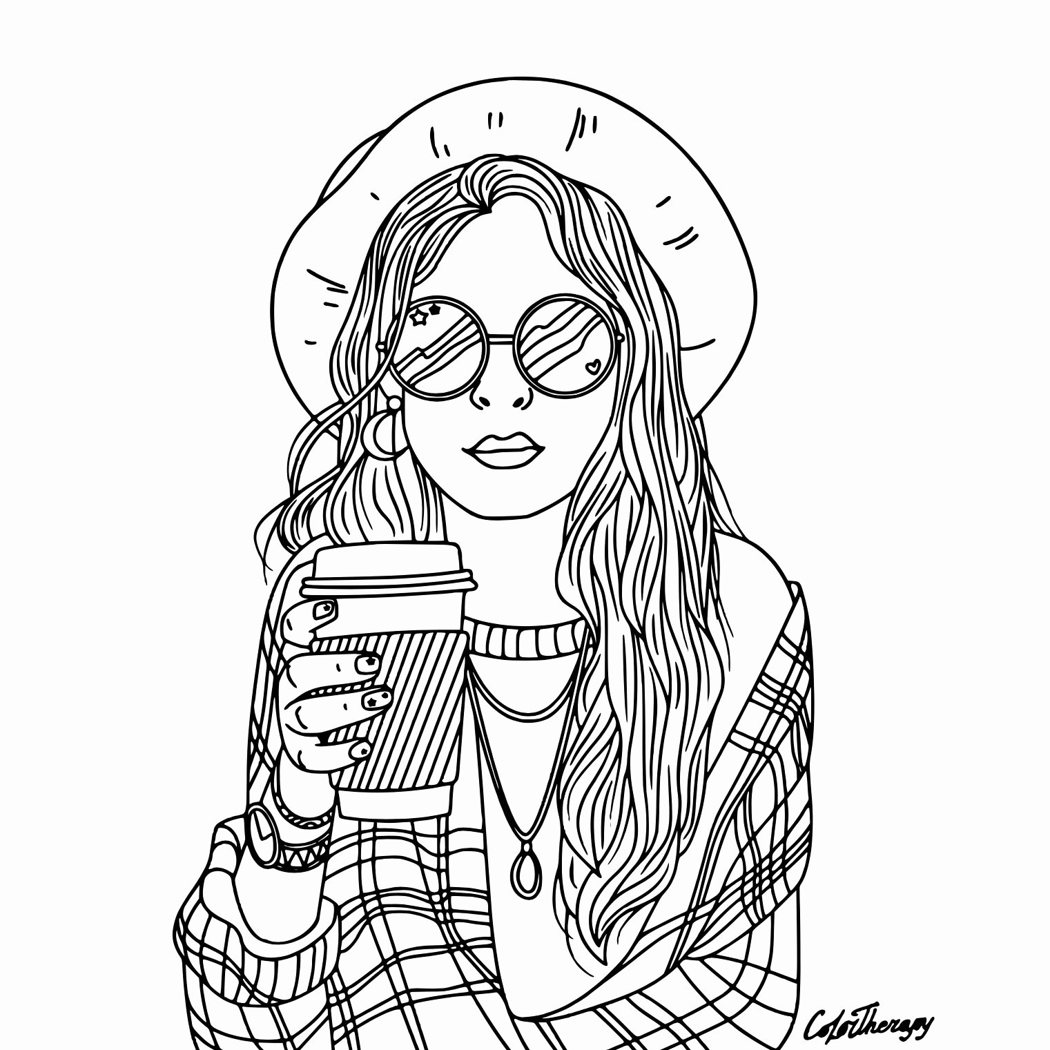 coloring pages of girls realistic adult coloring page girl portrait and clothes colouring girls realistic of coloring pages
