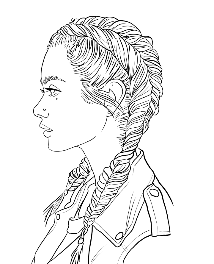 coloring pages of girls realistic coloring page fashion gal cute coloring pages pages coloring realistic of girls