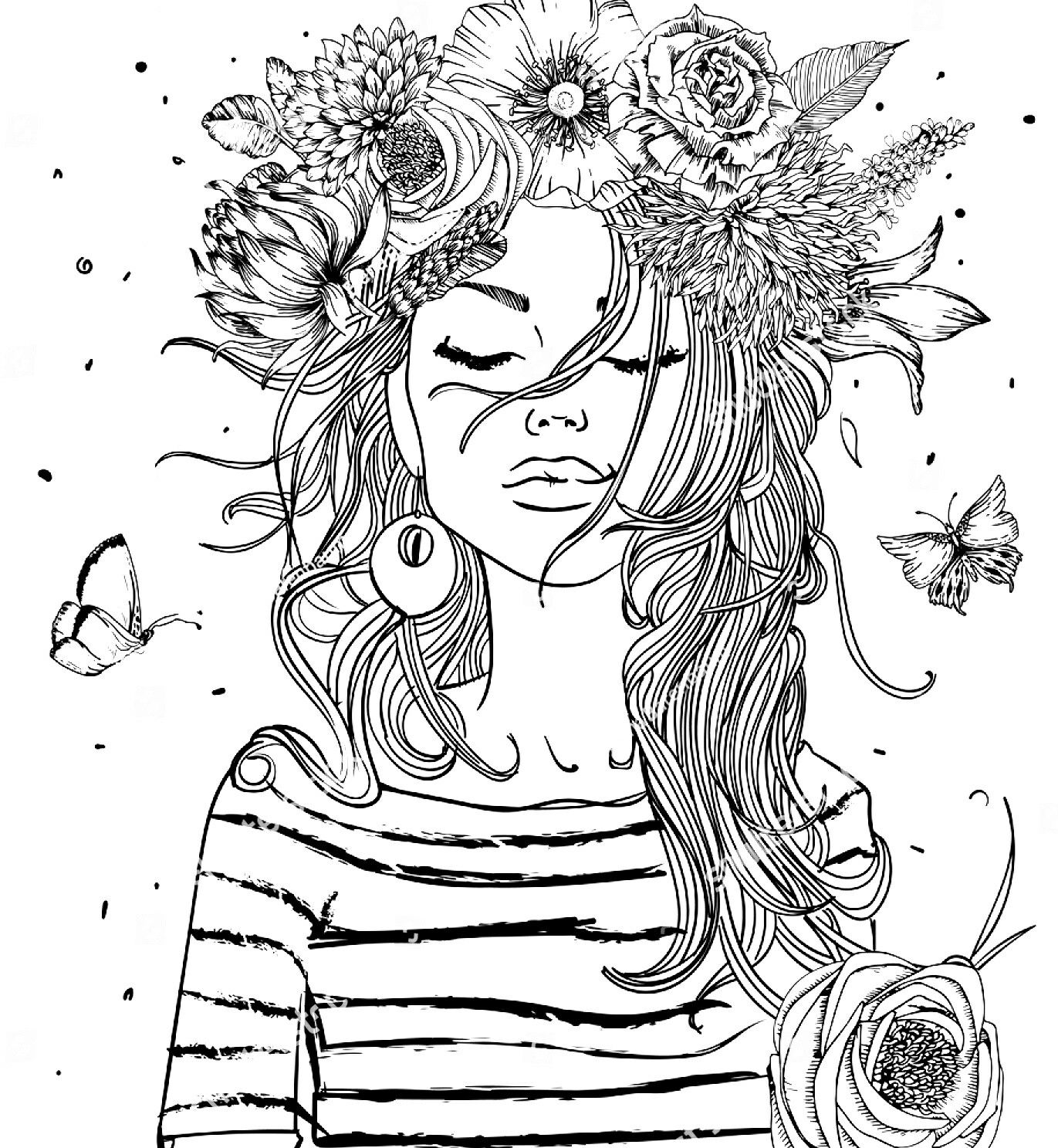 coloring pages of girls realistic pin on arty art art realistic of pages girls coloring