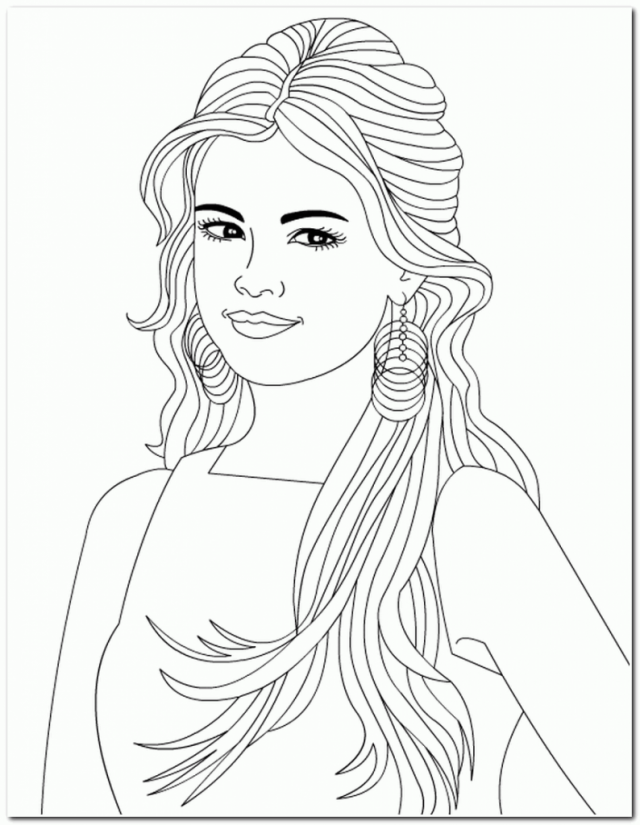 coloring pages of girls realistic realistic woman drawing at getdrawings free download realistic girls of coloring pages