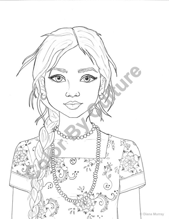 coloring pages of girls realistic the best ideas for realistic girl coloring pages best of pages coloring girls realistic