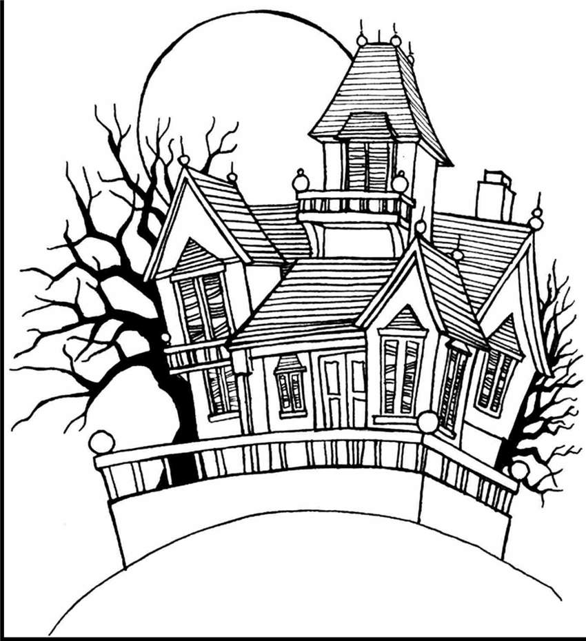 coloring pages of haunted houses 25 free printable haunted house coloring pages for kids pages of haunted houses coloring