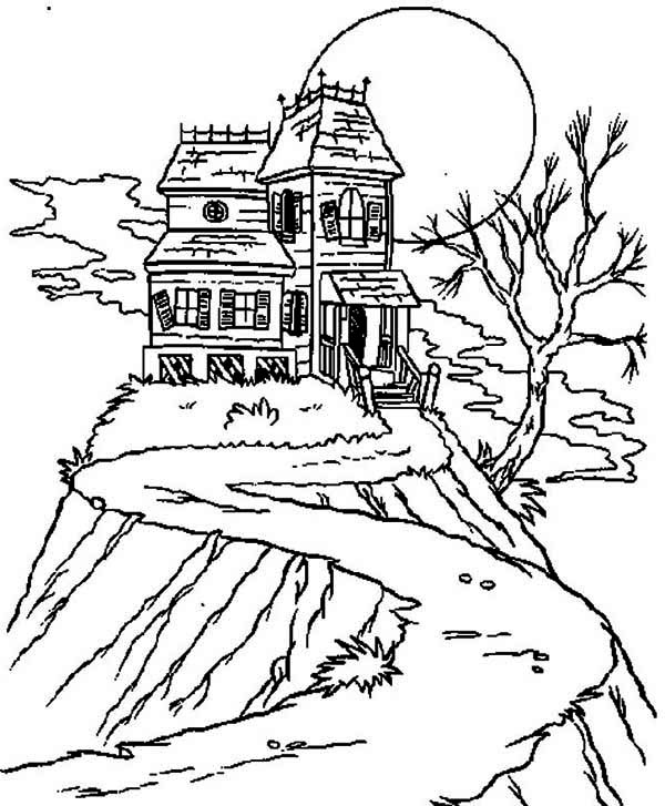 coloring pages of haunted houses halloween haunted house coloring pages realistic pages houses coloring haunted of