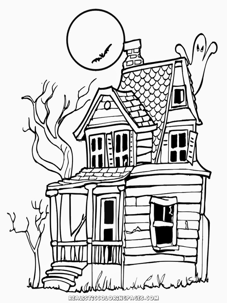 coloring pages of haunted houses happy halloween in haunted house coloring page kids play of houses pages coloring haunted
