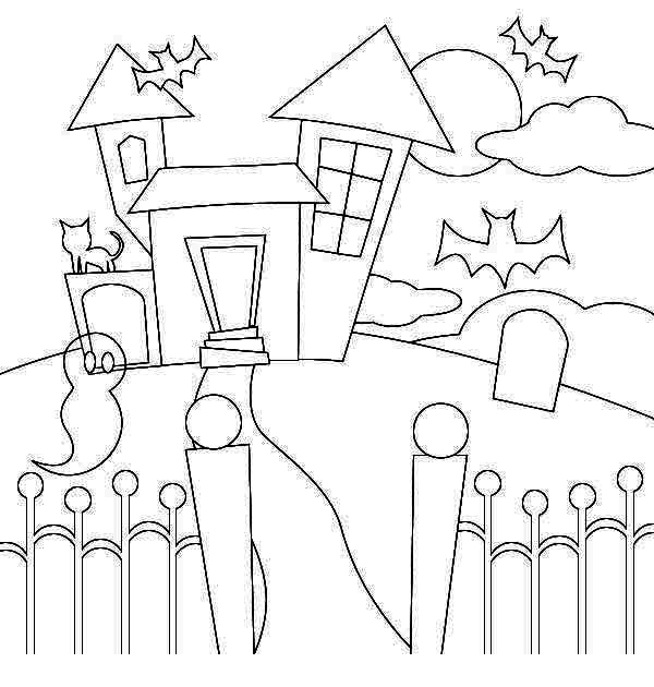coloring pages of haunted houses haunted house colouring page 5 coloring of pages haunted houses