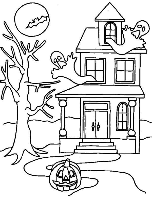 coloring pages of haunted houses printable haunted house coloring pages for kids cool2bkids houses coloring haunted of pages