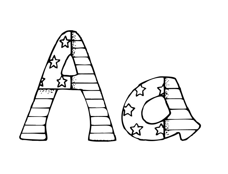 coloring pages of letter a 26 best alphabet patriotic coloring pages for kids of letter coloring a pages