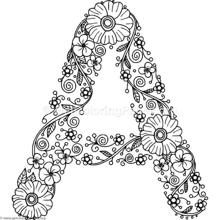 coloring pages of letter a floral alphabet letter a coloring pages getcoloringpagesorg of letter a pages coloring