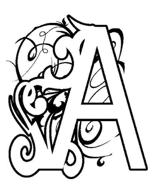 coloring pages of letter a illuminated letters coloring pages at getcoloringscom pages letter a coloring of