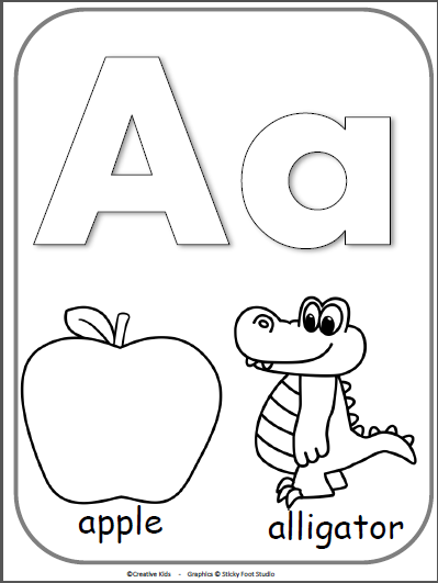 coloring pages of letter a letter a alphabet cards for display or coloring full letter coloring a pages of