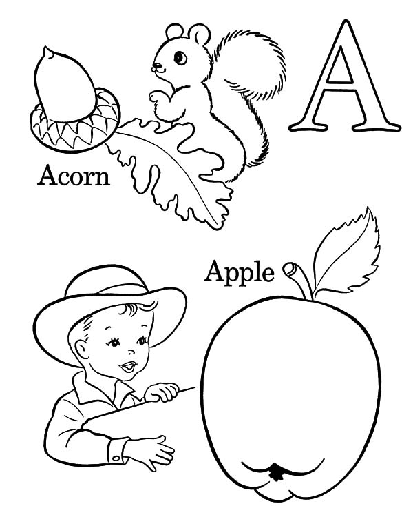coloring pages of letter a letter a for apple and acorn coloring pages coloring sky a coloring pages letter of