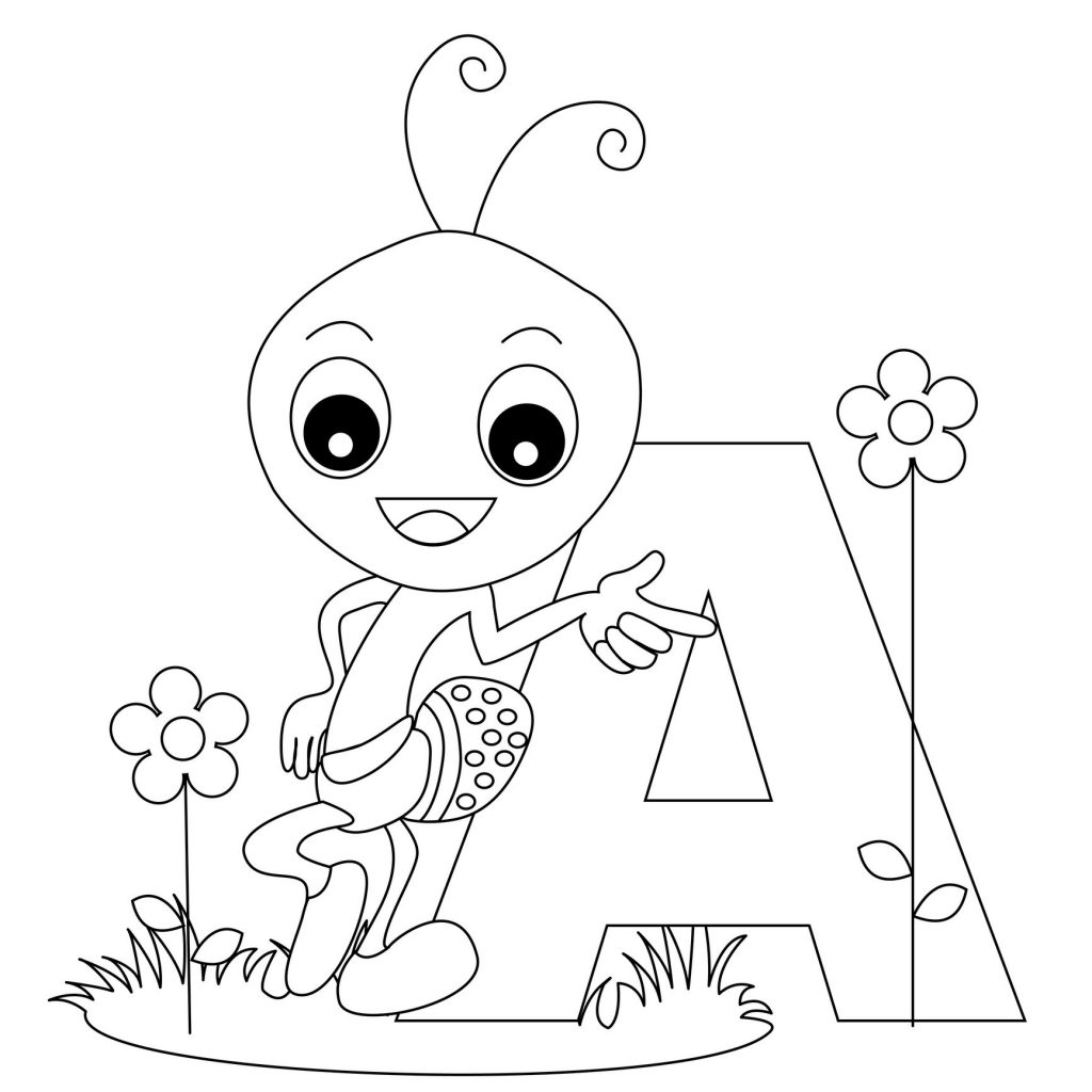 coloring pages of letter a letter a for apple ant and alligator coloring page of coloring a letter pages