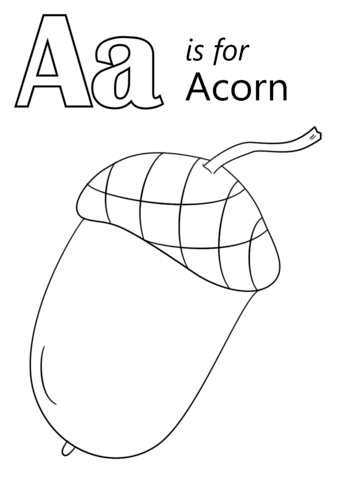 coloring pages of letter a letter a is for acorn coloring page free printable coloring a of letter pages