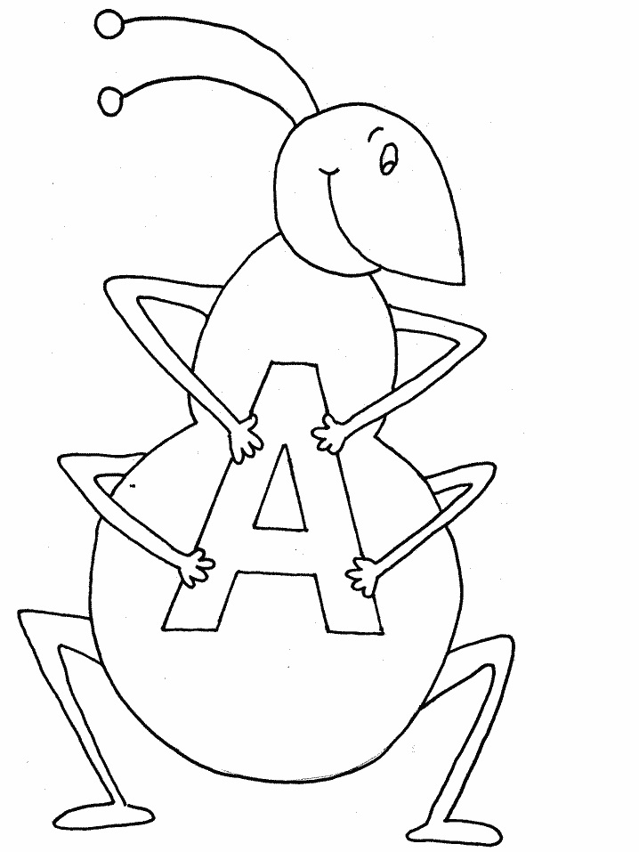 coloring pages of letter a letter a is for ant coloring page free coloring pages online letter coloring of a pages