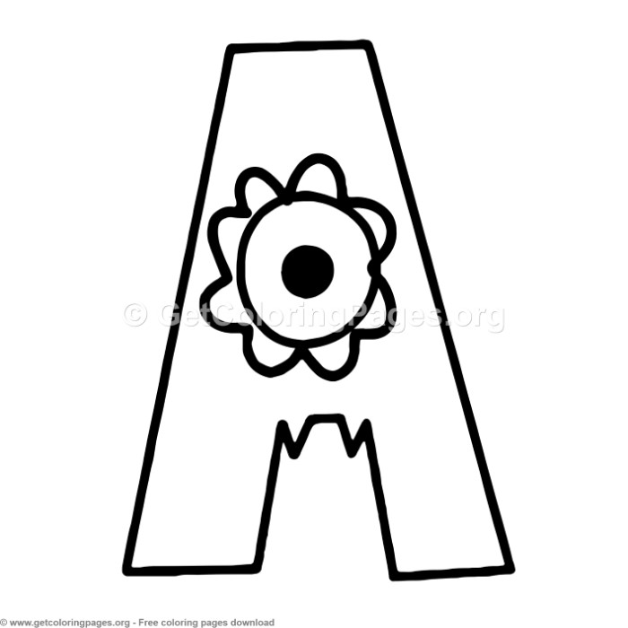 coloring pages of letter a monster alphabet letter a coloring pages coloring pages of a letter
