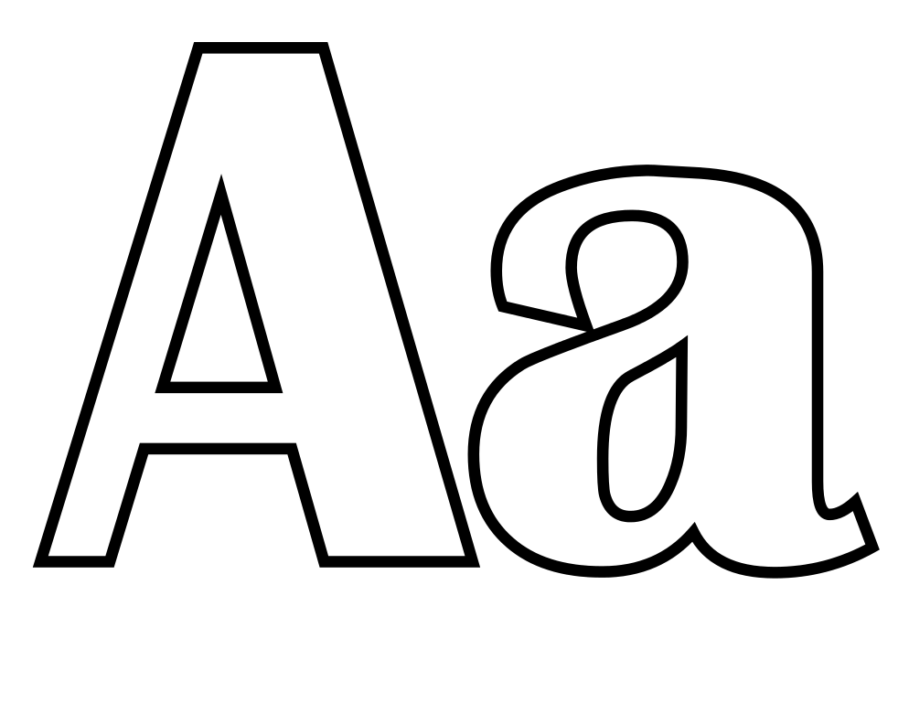 Coloring pages of letter a