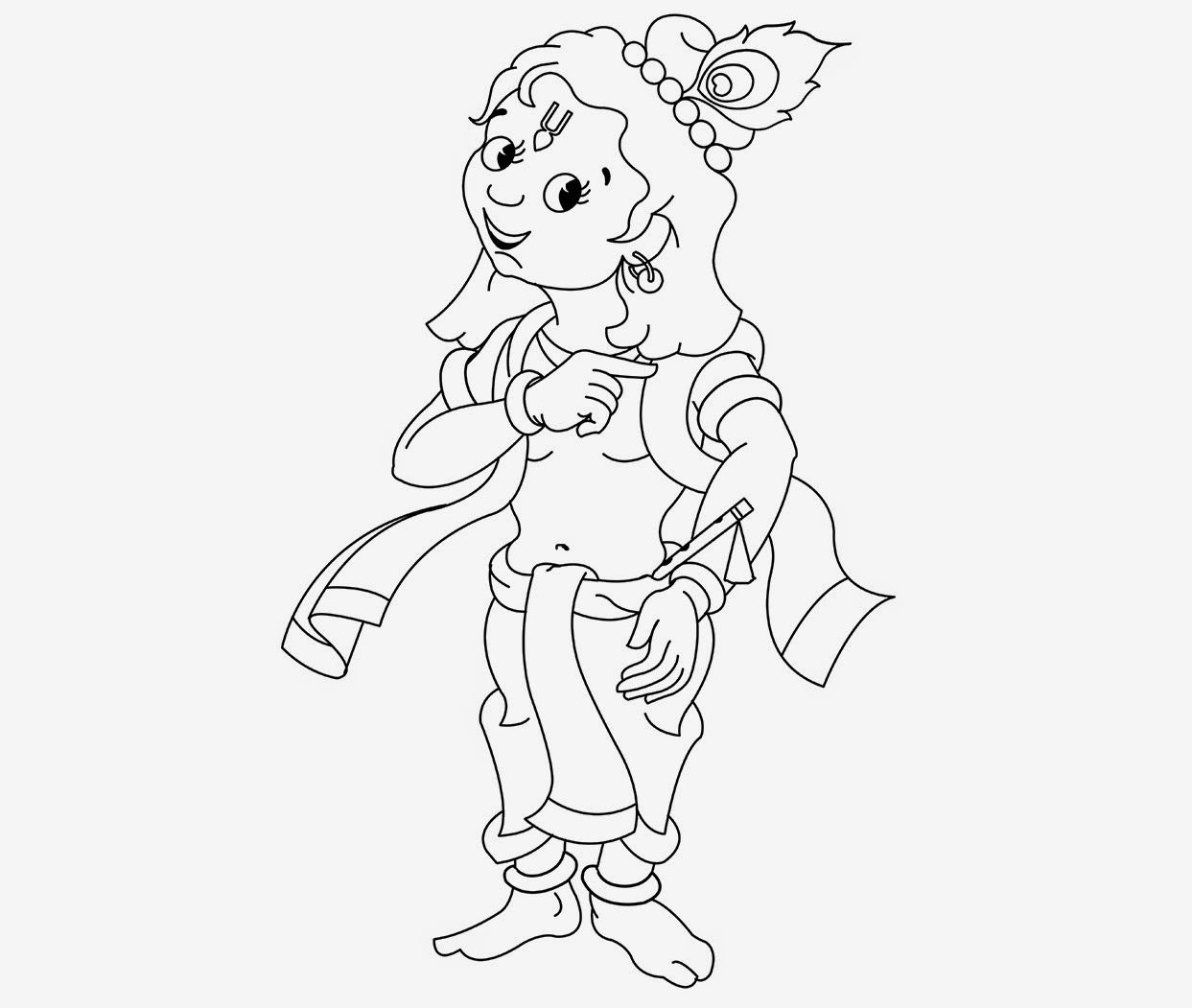 coloring pages of little krishna baby krishna coloring pages at getcoloringscom free coloring little of krishna pages