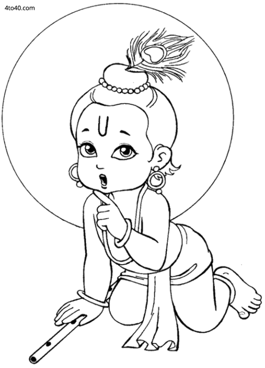 coloring pages of little krishna baby krishna coloring pages getcoloringpagescom of little coloring krishna pages