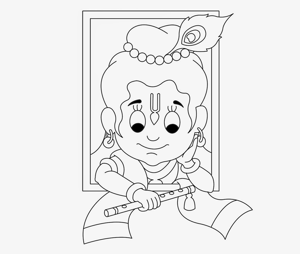 coloring pages of little krishna baby krishna drawing at getdrawings free download pages little krishna coloring of