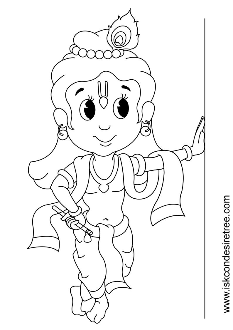 coloring pages of little krishna coloring page for kids with images little krishna krishna of coloring pages little