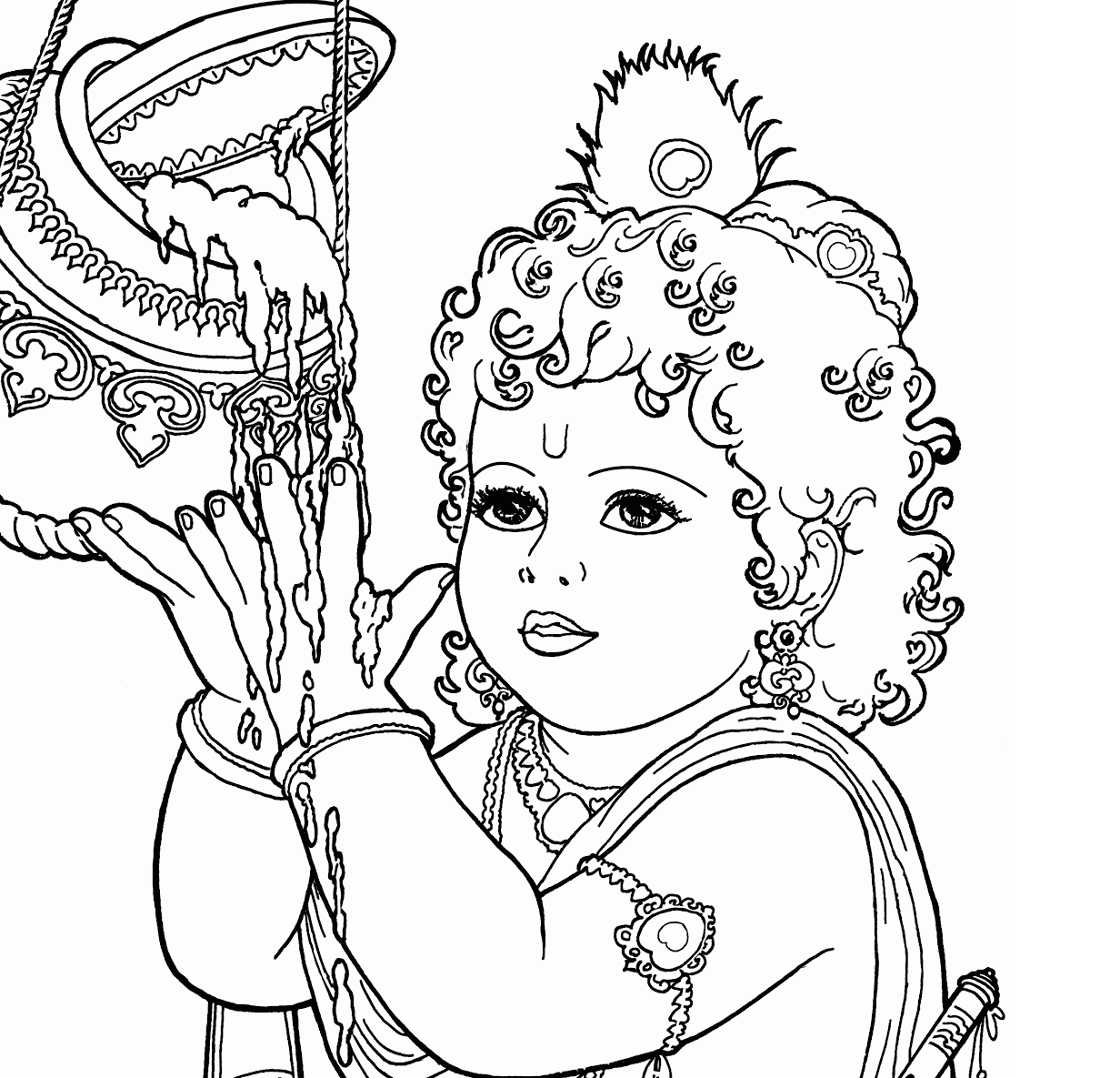 coloring pages of little krishna lord krishna the slayer of kalia naag coloring pages krishna pages of coloring little